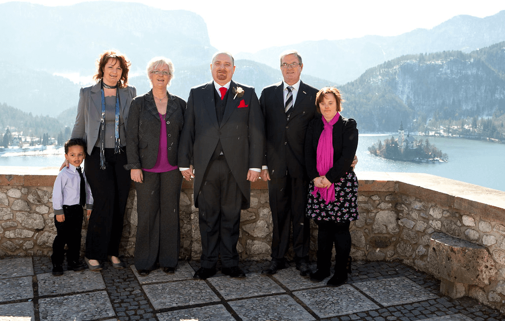 From Left to Right: Jackson (Marlies's son), Marlies (older sister), Marianne (mum), me, Cees (dad), and Monica (younger sister)